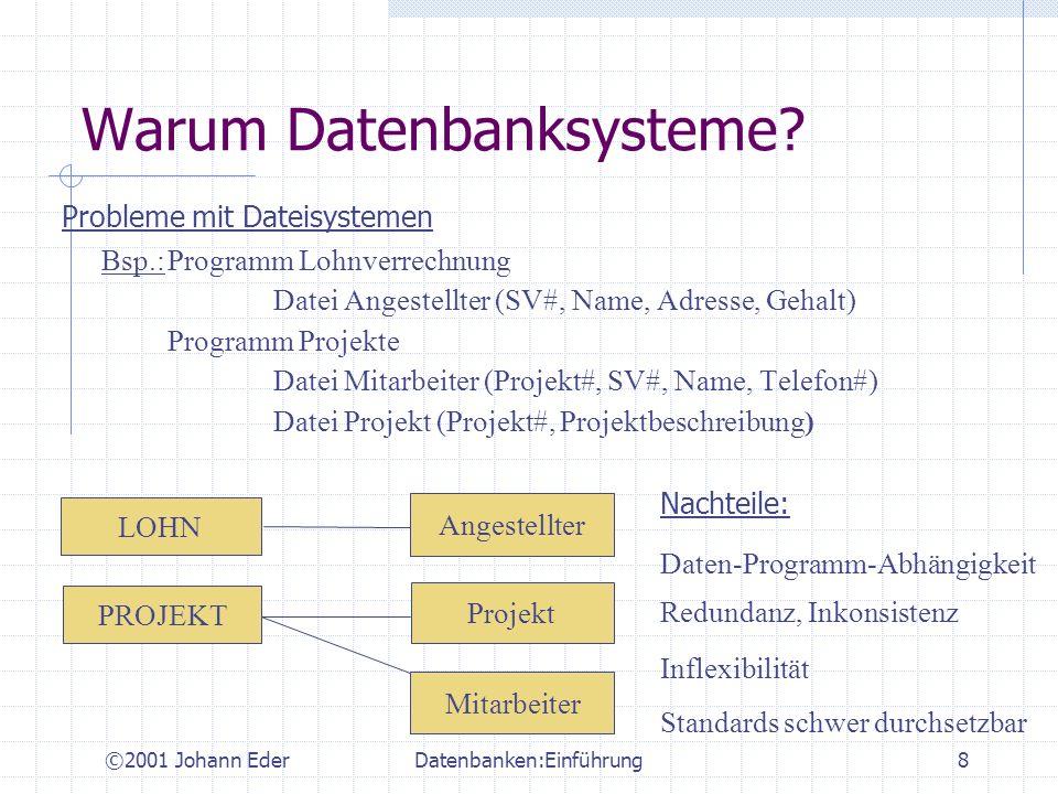 Warum Datenbanksysteme
