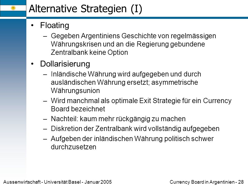 Alternative Strategien (I)