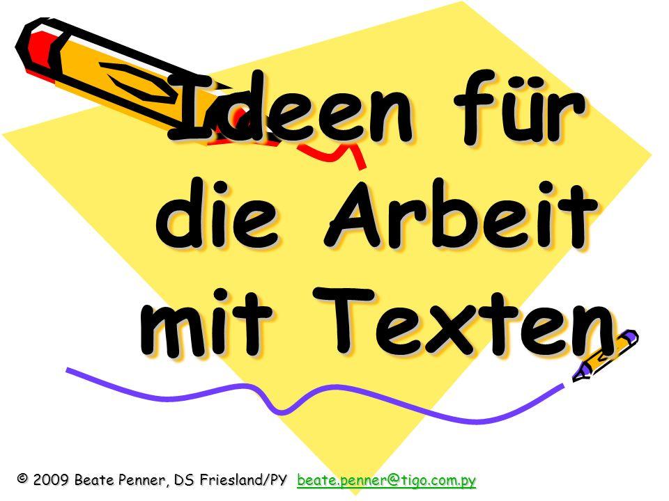 Ideen für die Arbeit mit Texten