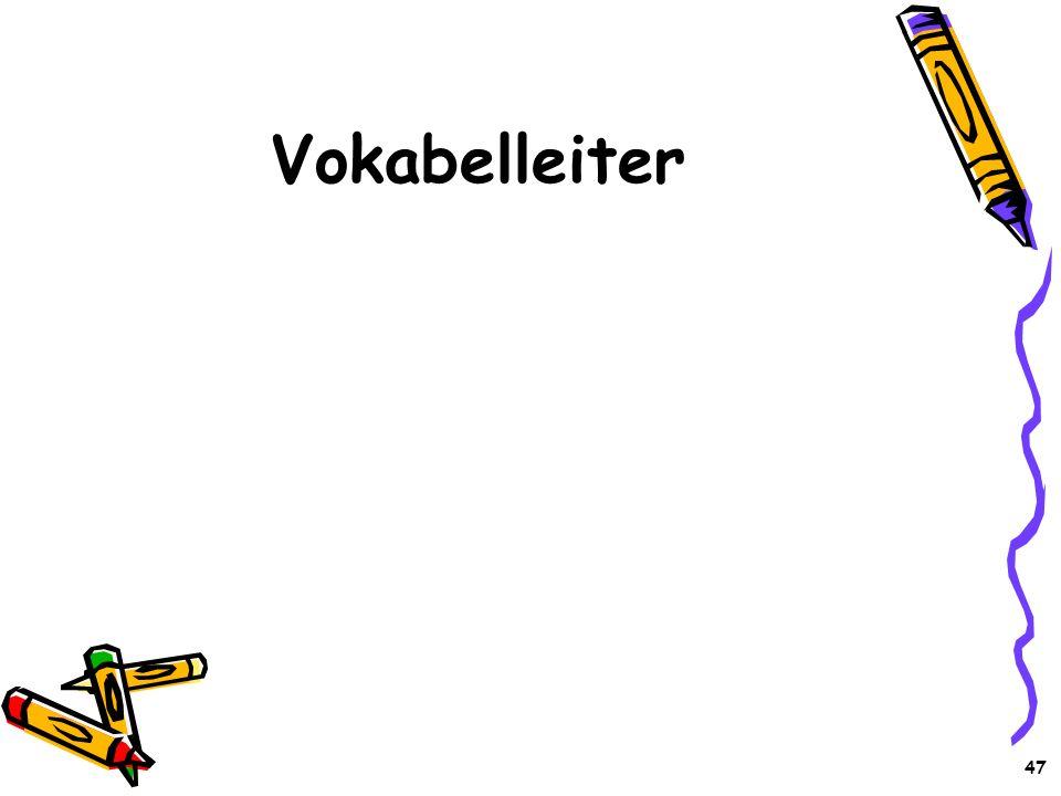 Vokabelleiter