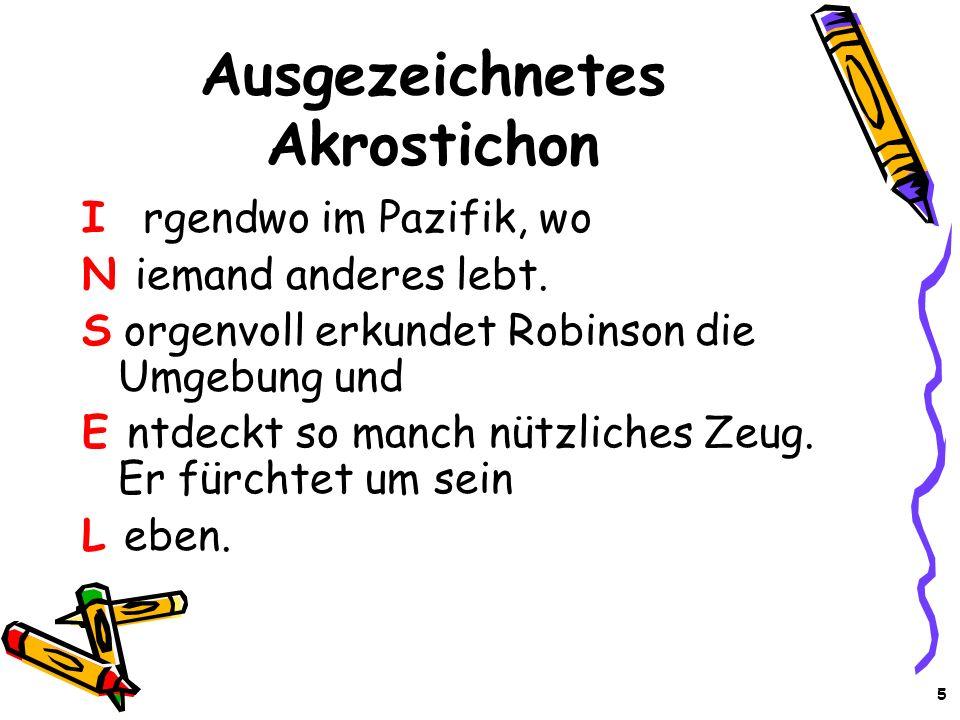 Ausgezeichnetes Akrostichon