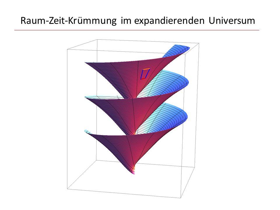 Raum-Zeit-Krümmung im expandierenden Universum