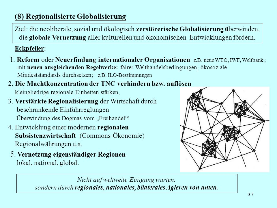 (8) Regionalisierte Globalisierung