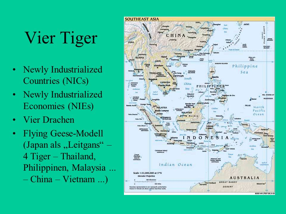 Vier Tiger Newly Industrialized Countries (NICs)
