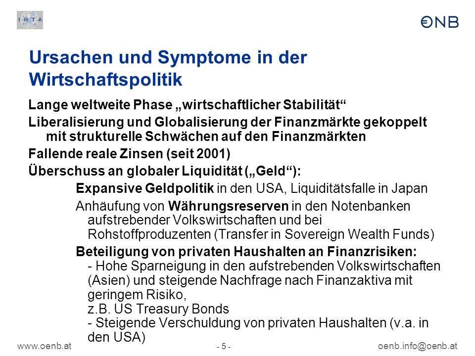 Ursachen und Symptome in der Wirtschaftspolitik