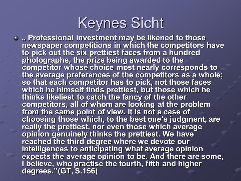 Keynes Sicht