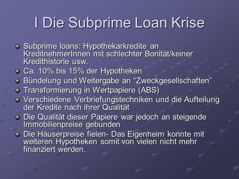 I Die Subprime Loan Krise