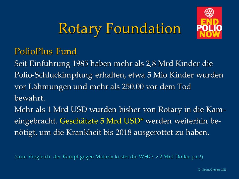 Rotary Foundation PolioPlus Fund