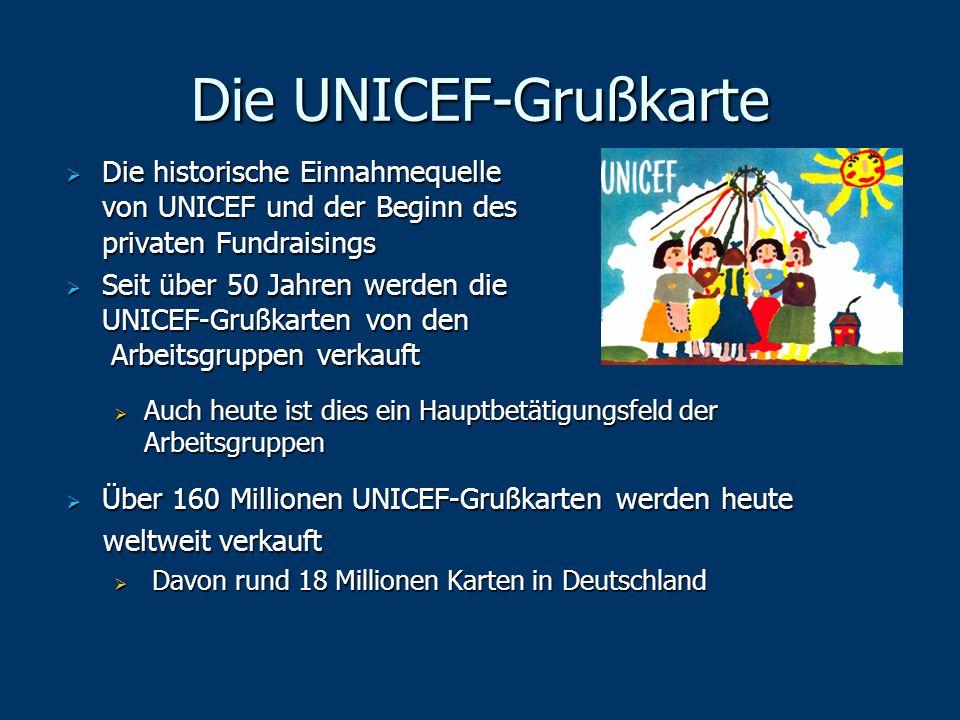 Die UNICEF-Grußkarte Die historische Einnahmequelle von UNICEF und der Beginn des privaten Fundraisings.