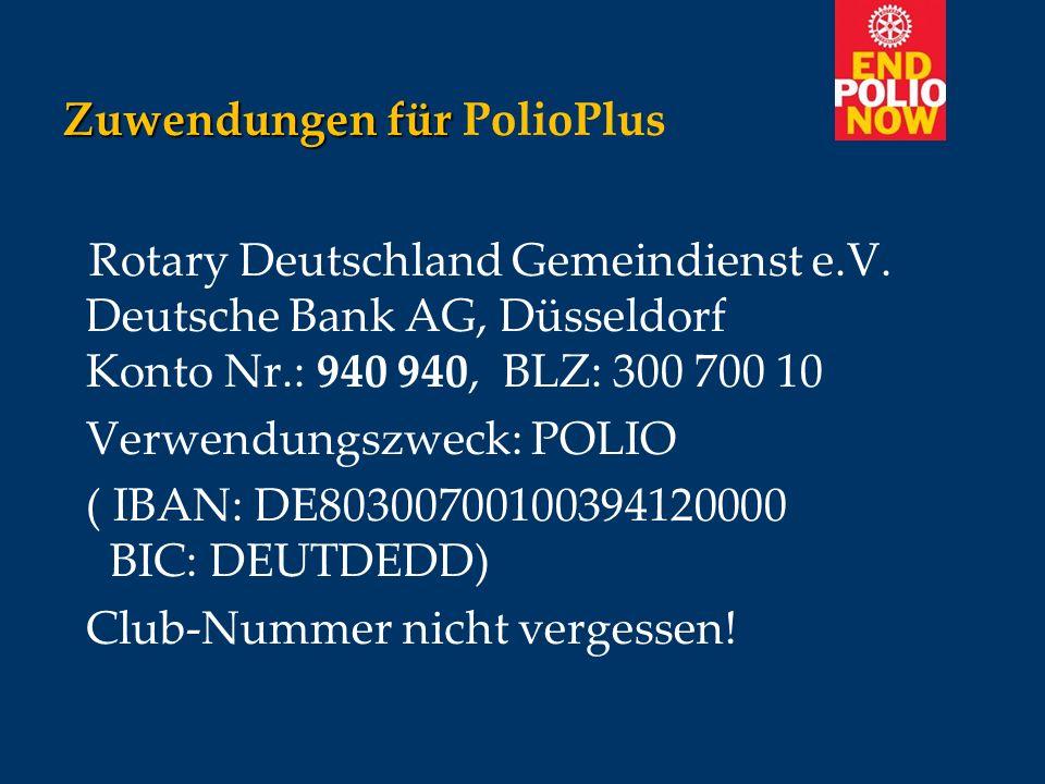 Zuwendungen für PolioPlus