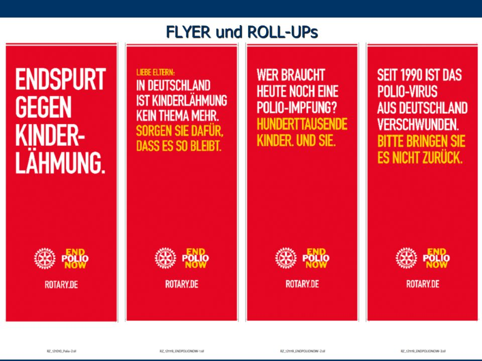 FLYER und ROLL-UPs