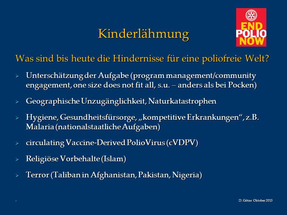 Kinderlähmung Was sind bis heute die Hindernisse für eine poliofreie Welt