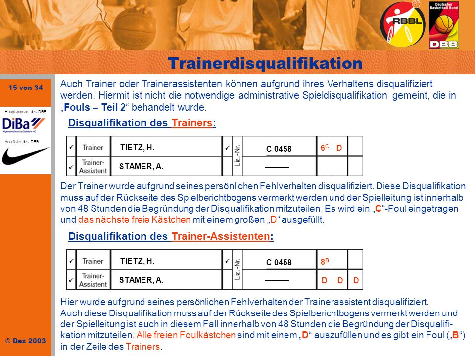 Trainerdisqualifikation