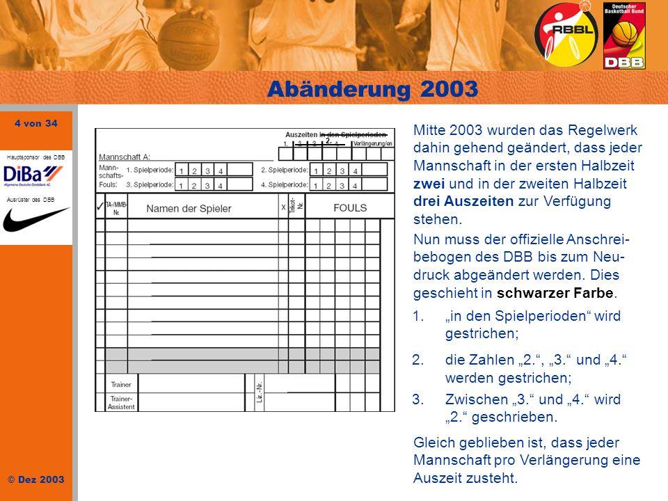 Abänderung 2003
