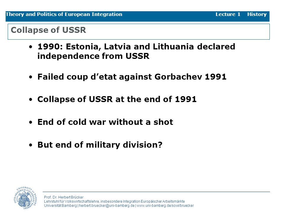 1990: Estonia, Latvia and Lithuania declared independence from USSR