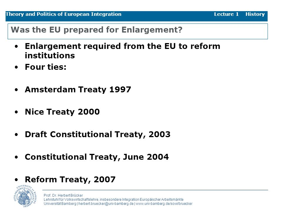 Was the EU prepared for Enlargement