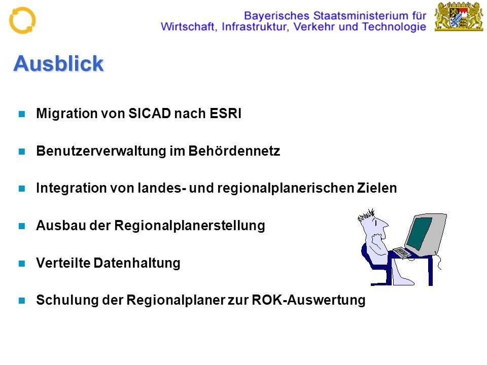 Ausblick Migration von SICAD nach ESRI