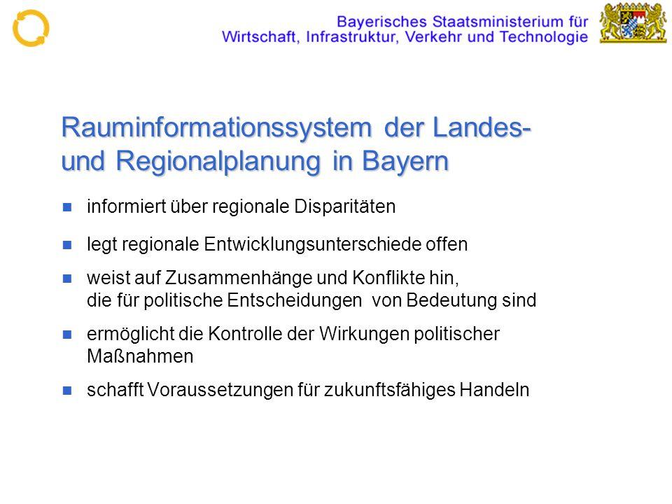 Rauminformationssystem der Landes- und Regionalplanung in Bayern