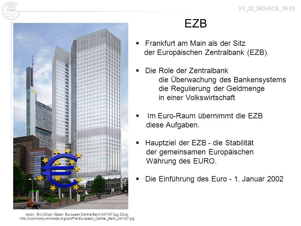 EZB Frankfurt am Main als der Sitz der Europäischen Zentralbank (EZB).