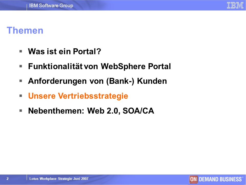 Themen Was ist ein Portal Funktionalität von WebSphere Portal