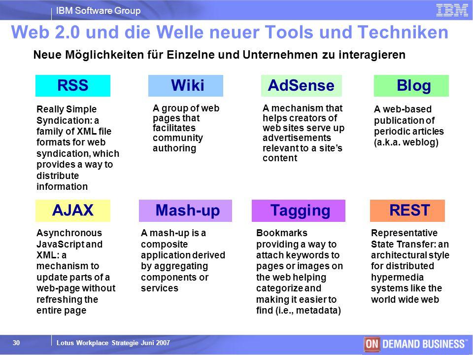 Web 2.0 und die Welle neuer Tools und Techniken