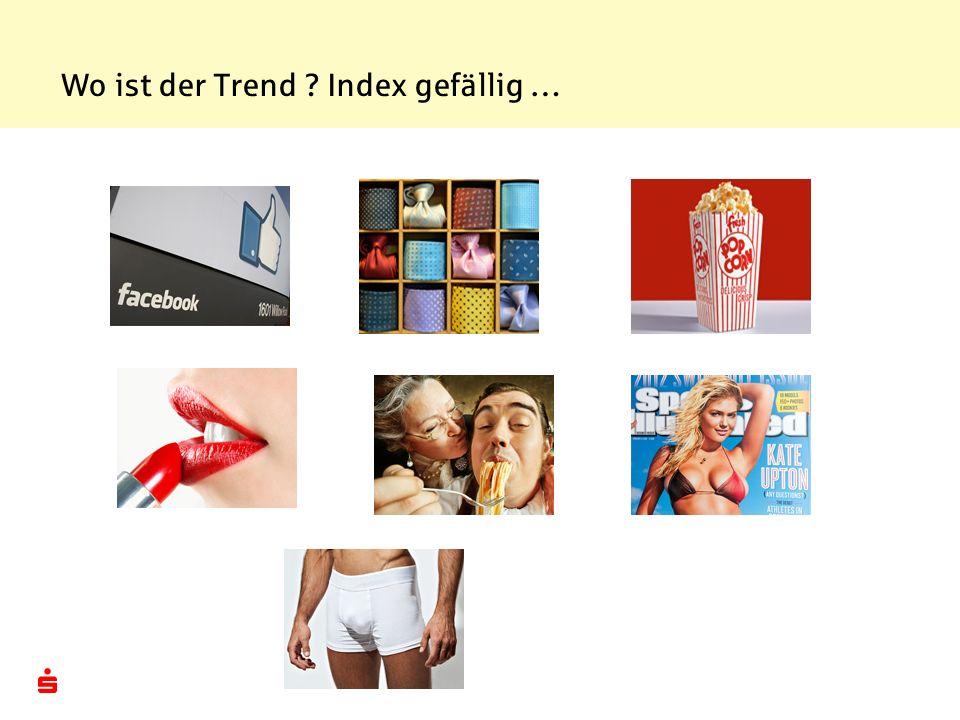 Wo ist der Trend Index gefällig …