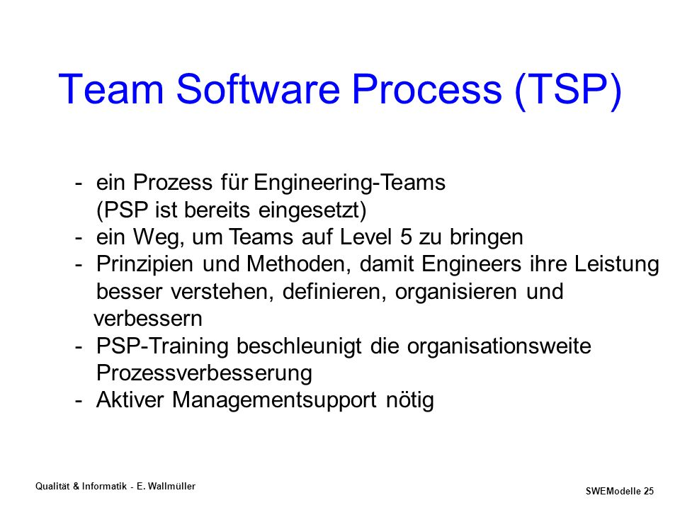 Team Software Process (TSP)