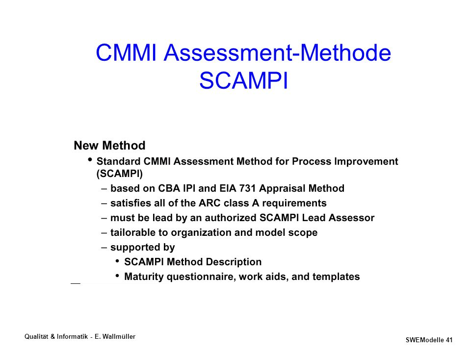 CMMI Assessment-Methode