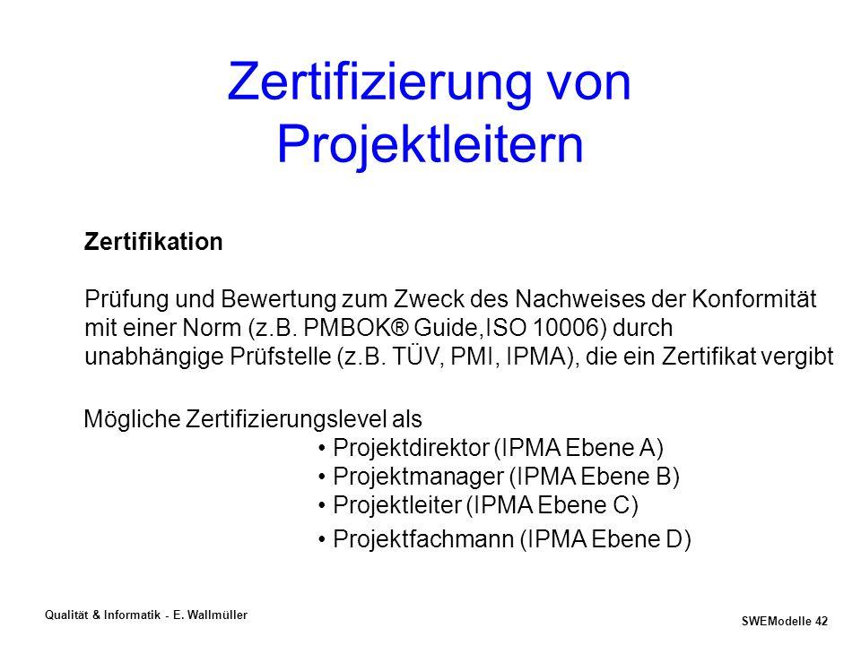 Zertifizierung von Projektleitern