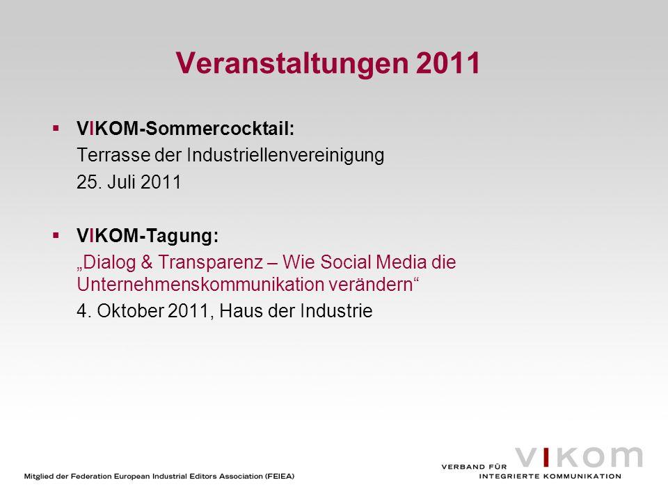 Veranstaltungen 2011 VIKOM-Sommercocktail: