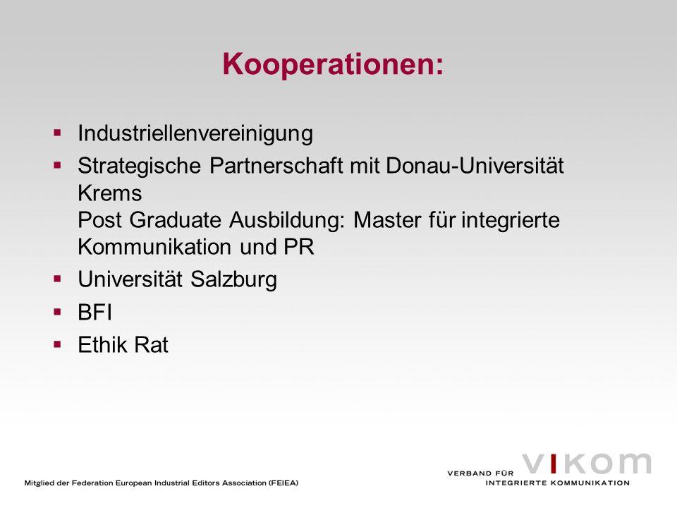 Kooperationen: Industriellenvereinigung