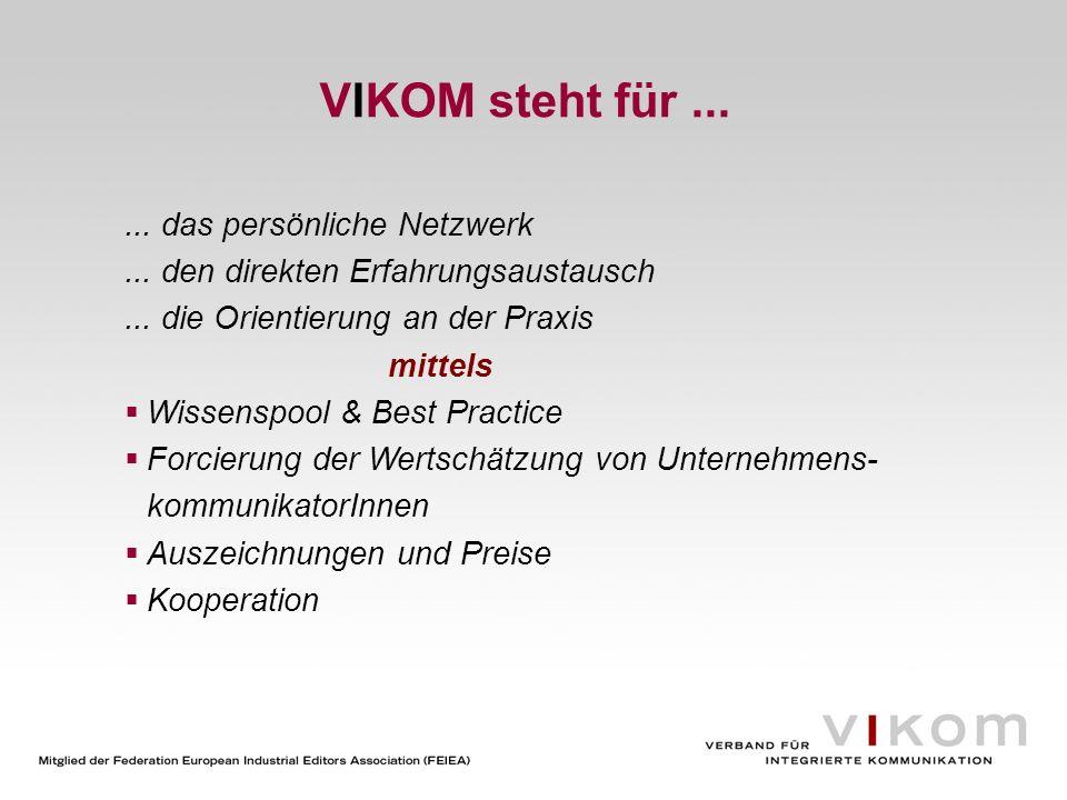 VIKOM steht für ... ... das persönliche Netzwerk