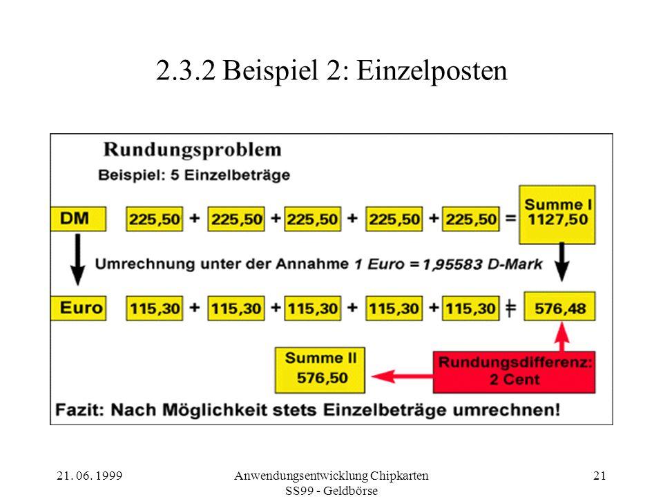 2.3.2 Beispiel 2: Einzelposten