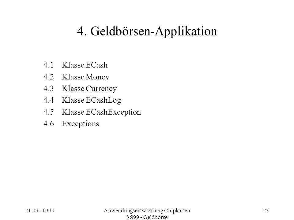 4. Geldbörsen-Applikation