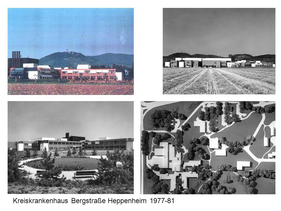 Kreiskrankenhaus Bergstraße Heppenheim 1977-81