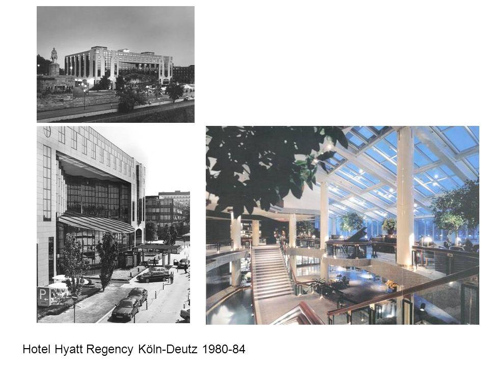 Hotel Hyatt Regency Köln-Deutz 1980-84
