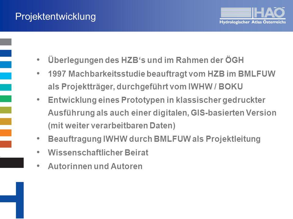 Projektentwicklung Überlegungen des HZB's und im Rahmen der ÖGH