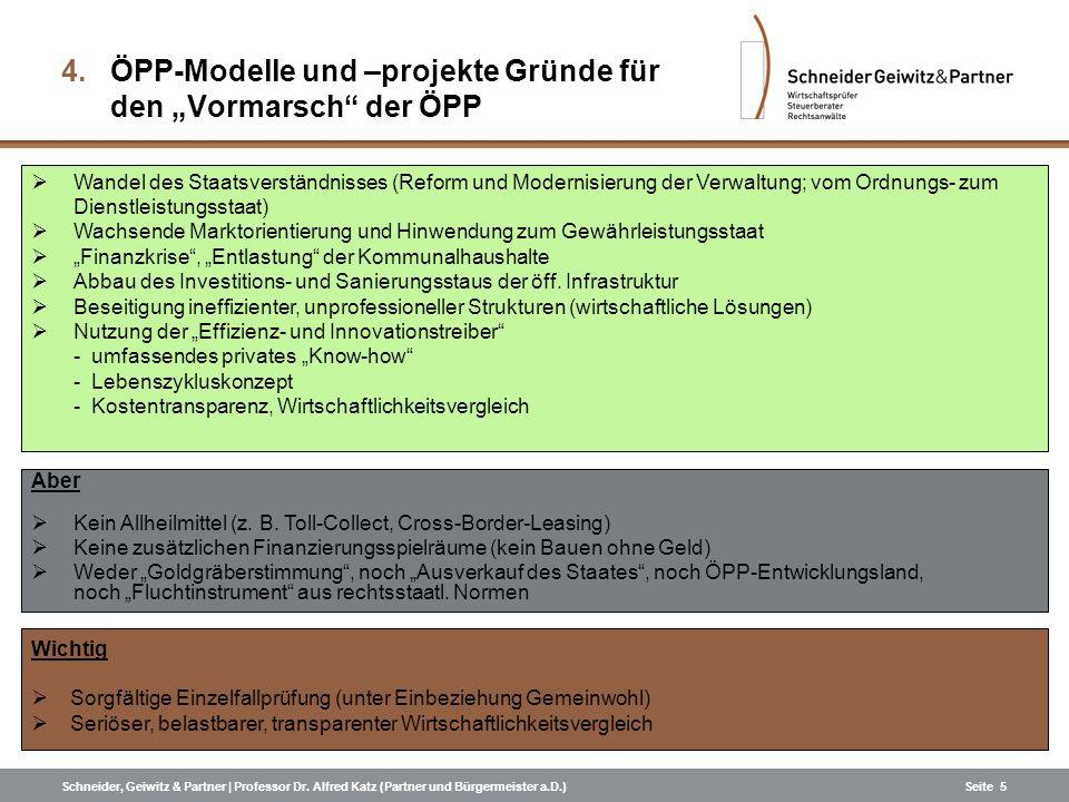 """ÖPP-Modelle und –projekte Gründe für den """"Vormarsch der ÖPP"""