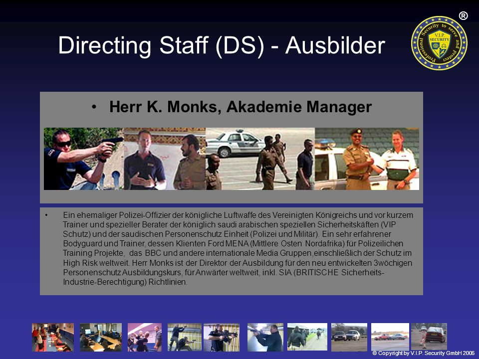 Directing Staff (DS) - Ausbilder