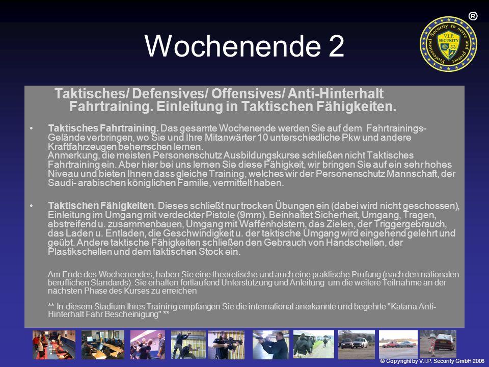 Wochenende 2 Taktisches/ Defensives/ Offensives/ Anti-Hinterhalt Fahrtraining. Einleitung in Taktischen Fähigkeiten.