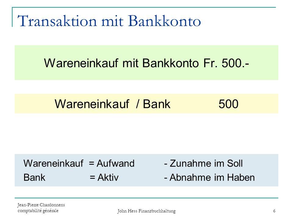 Transaktion mit Bankkonto