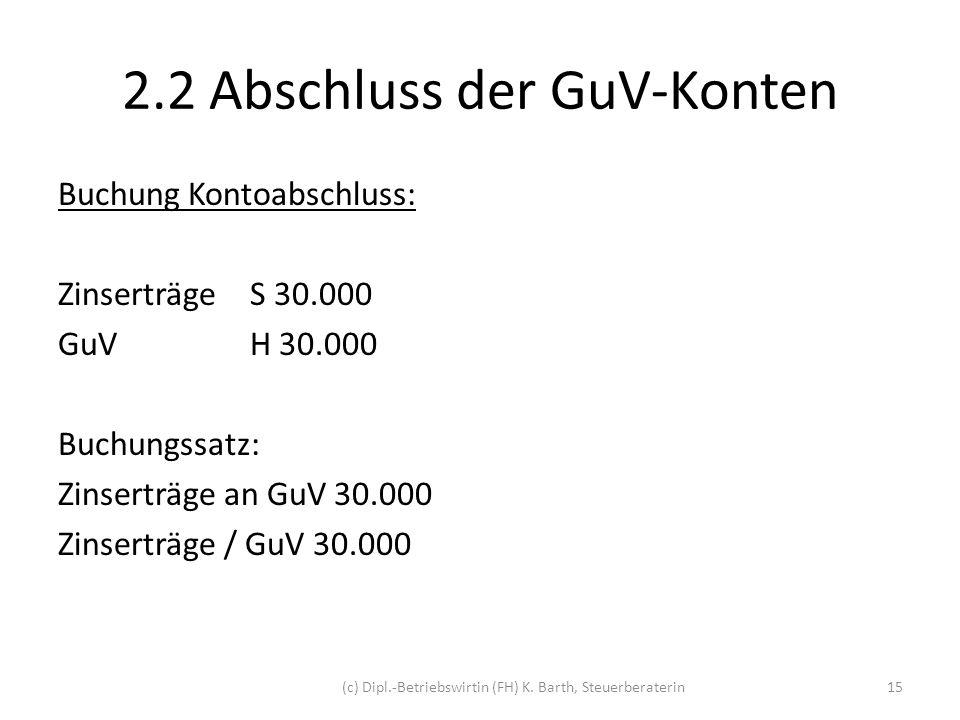 2.2 Abschluss der GuV-Konten