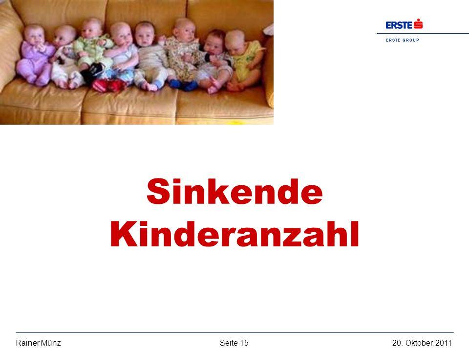 Sinkende Kinderanzahl