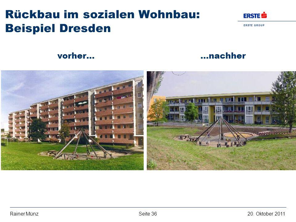 Rückbau im sozialen Wohnbau: Beispiel Dresden
