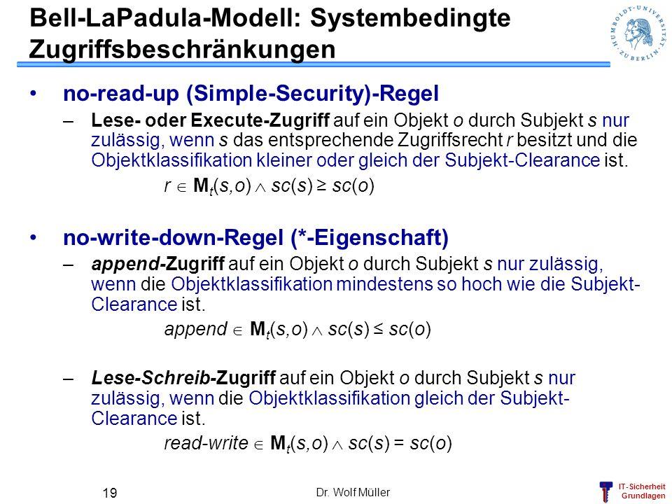 Bell-LaPadula-Modell: Systembedingte Zugriffsbeschränkungen