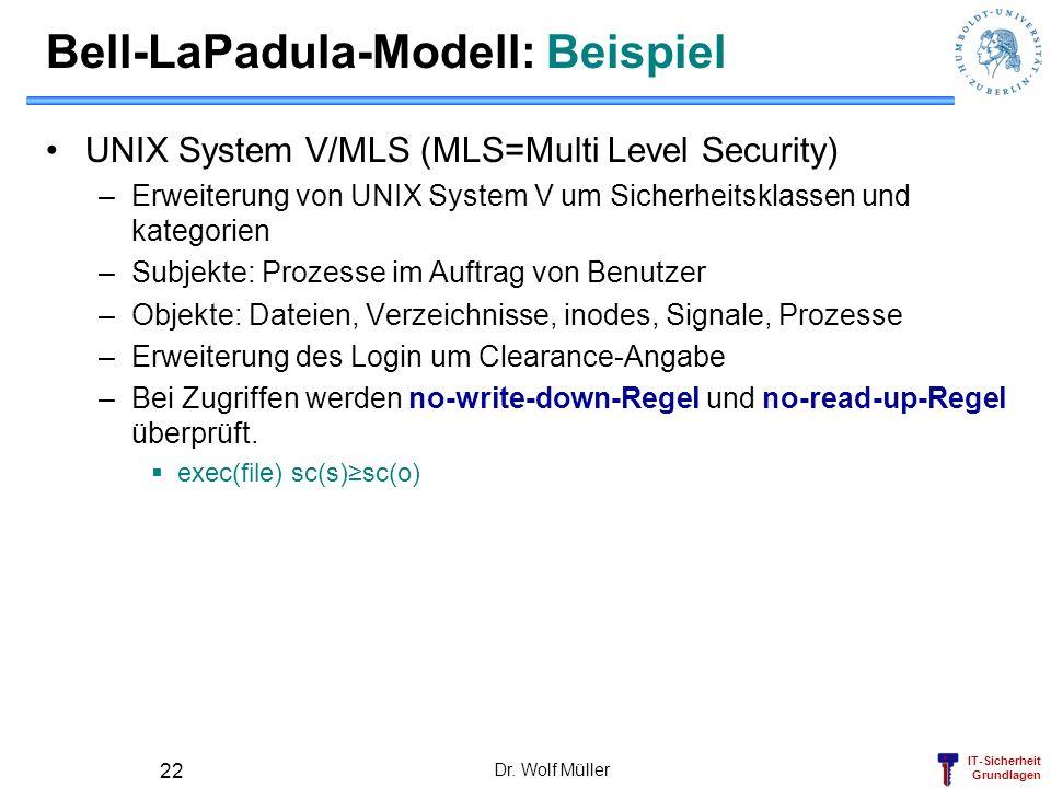 Bell-LaPadula-Modell: Beispiel