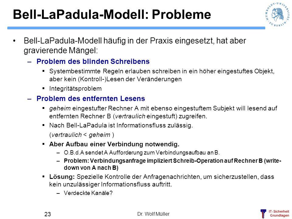 Bell-LaPadula-Modell: Probleme