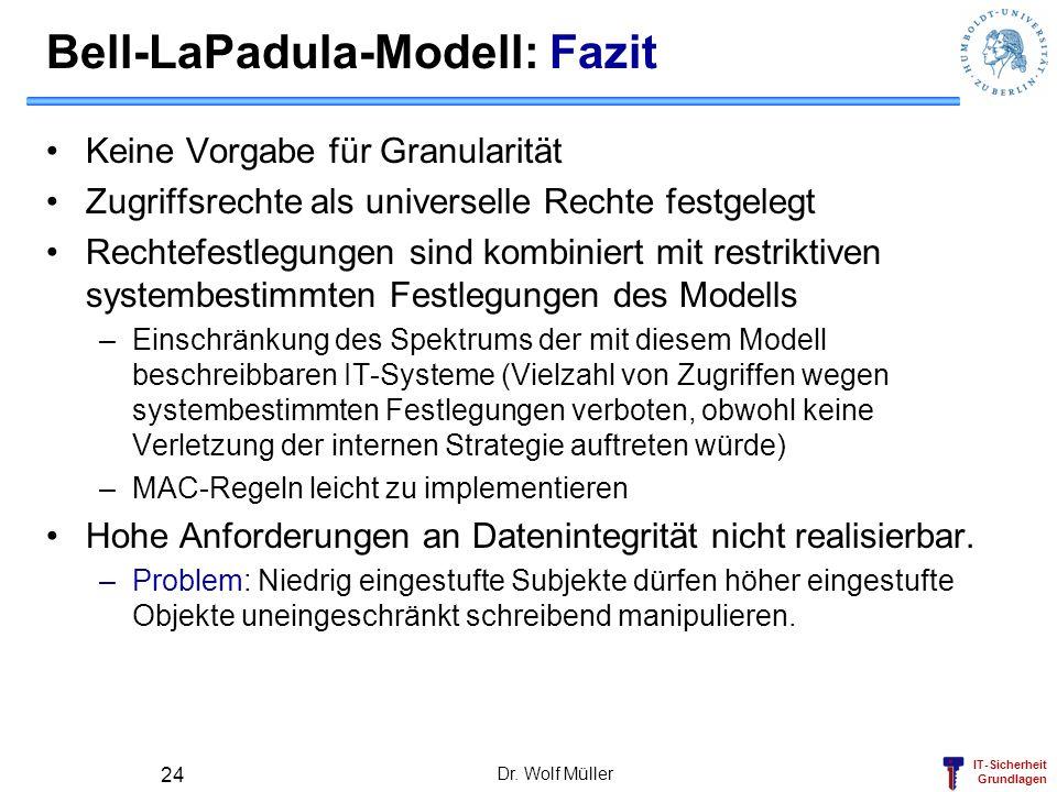 Bell-LaPadula-Modell: Fazit