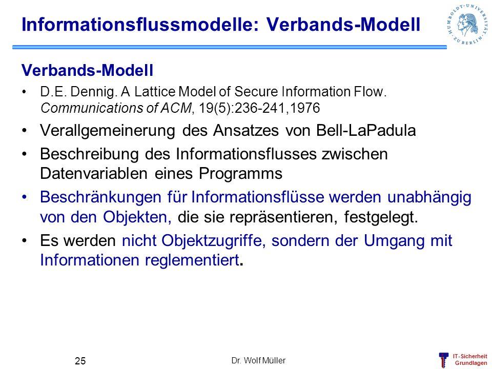 Informationsflussmodelle: Verbands-Modell