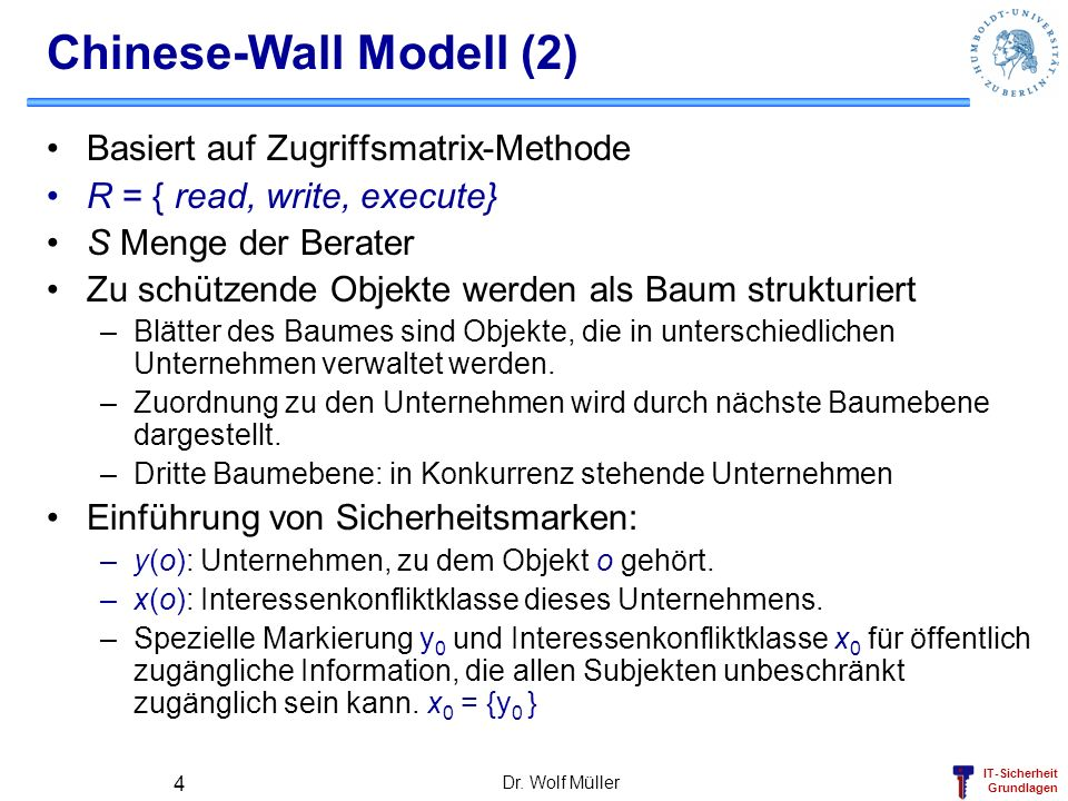 Chinese-Wall Modell (2)